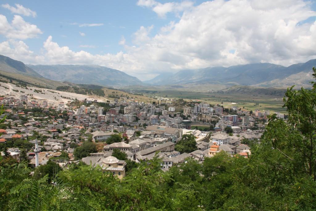 Utsikt over Gjirokastër.