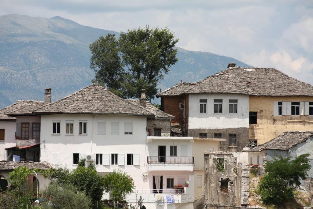 Gamle hus i Gjirokastër.