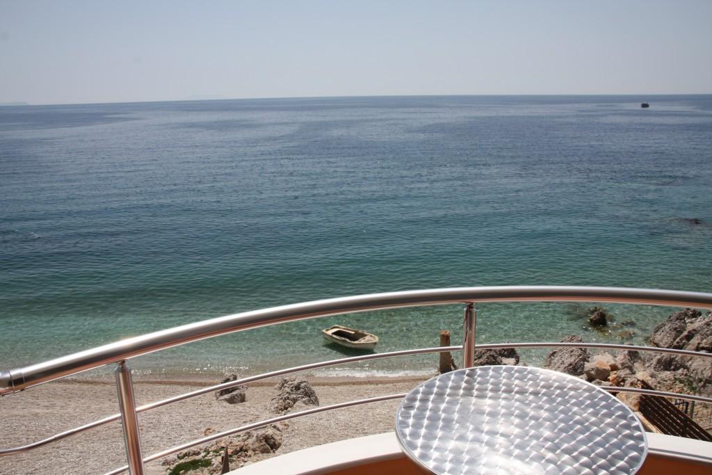 Utsikt fra balkongen vår.