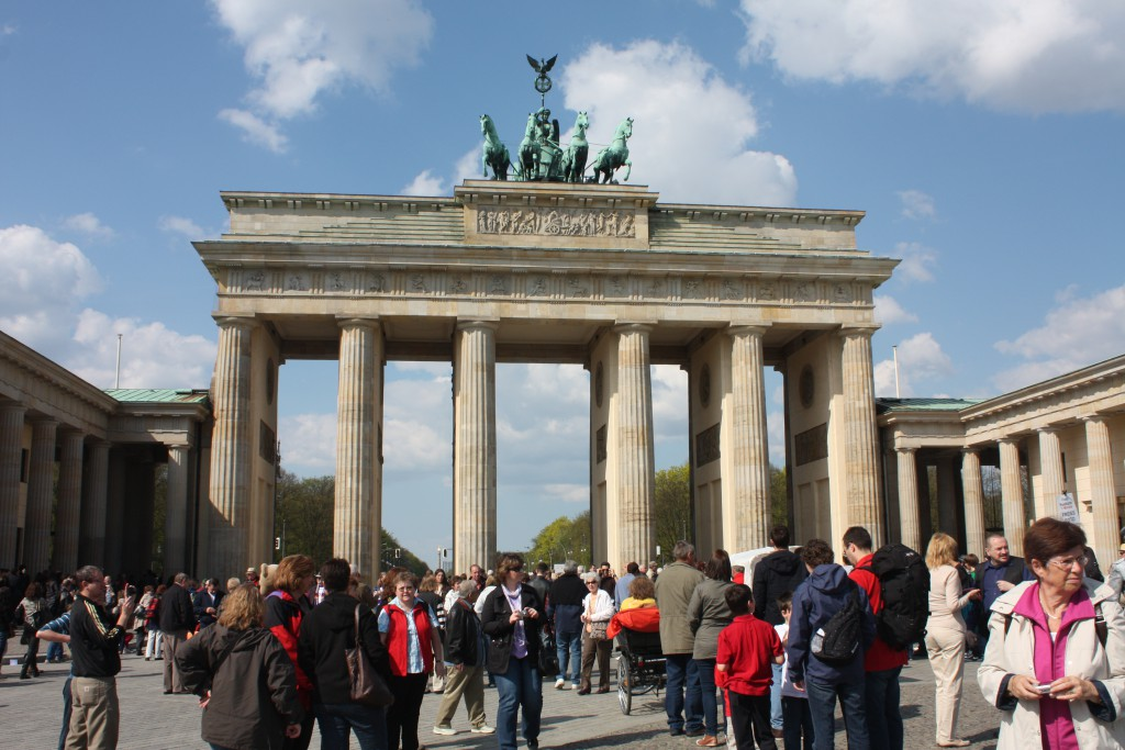 Brandenburger Tor i Berlin.