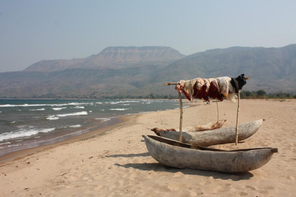 Ved Lake Malawi.