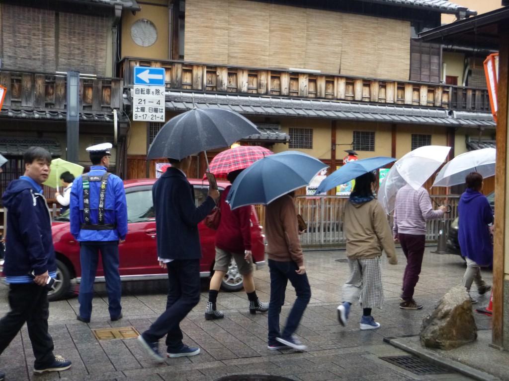 Regnværsdag i Gion, Kyoto.