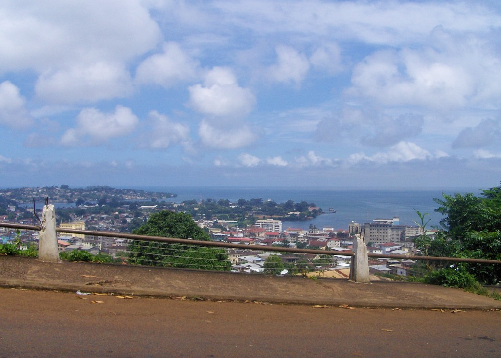 Utsikt over Freetown.