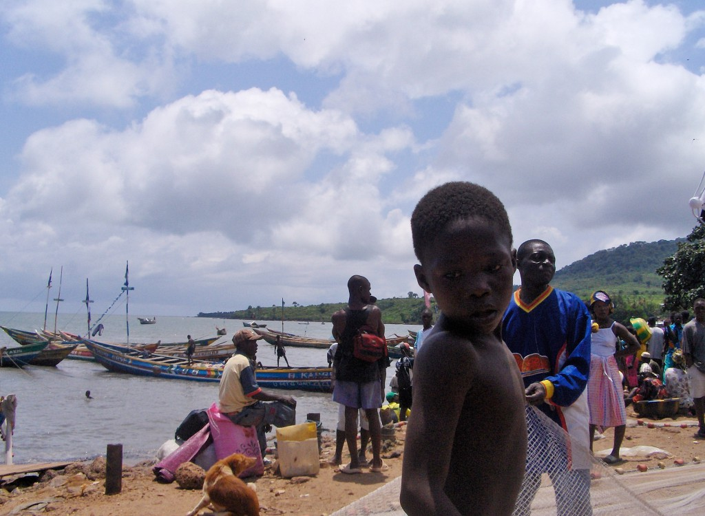 Fiskerlandsby på Freetownhalvøya.