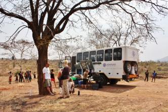 Malawi - Lunsj langs veien