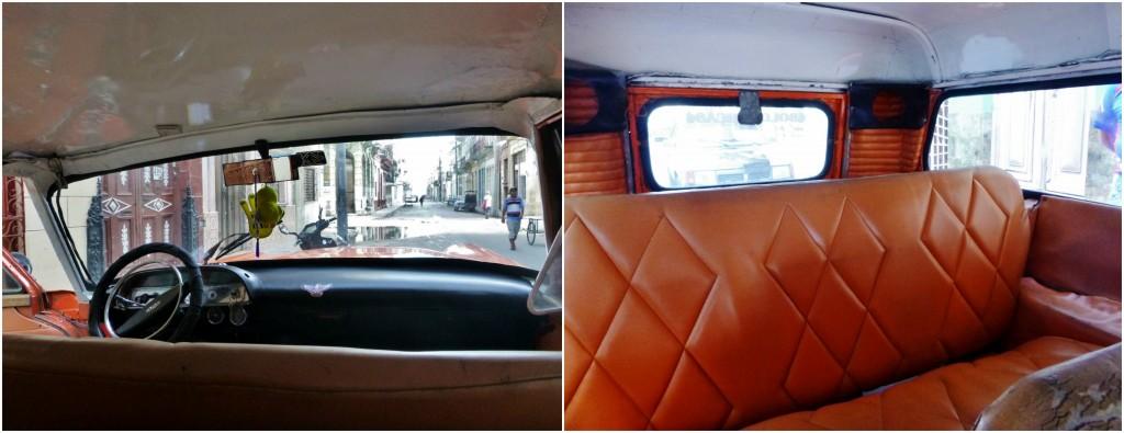 Collage bil på Cuba