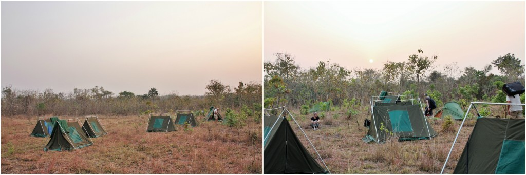 Collage bushcamping i Togo 1