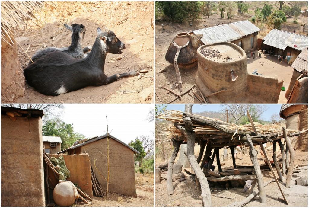 Collage landsby i Togo 2