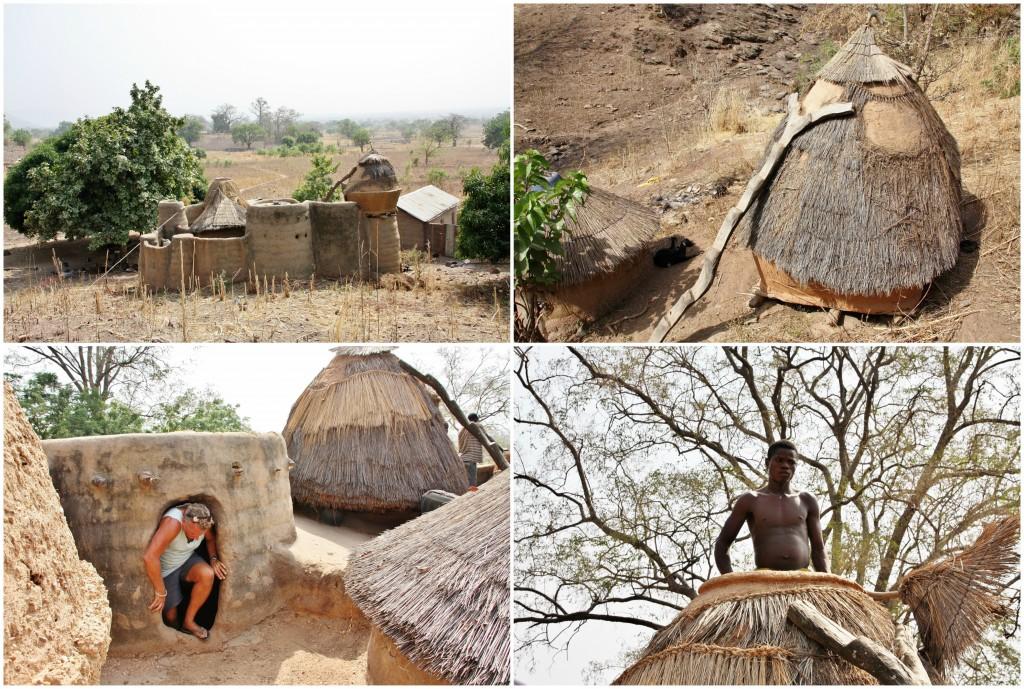 Collage landsby i Togo 3