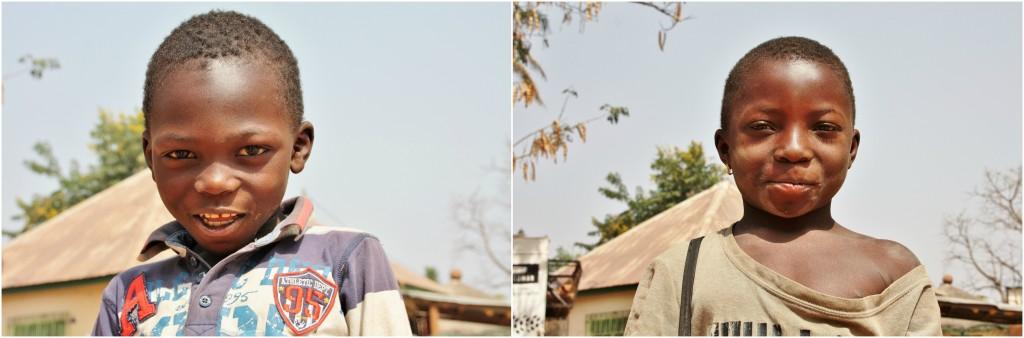 Collage langs veien i Togo 4